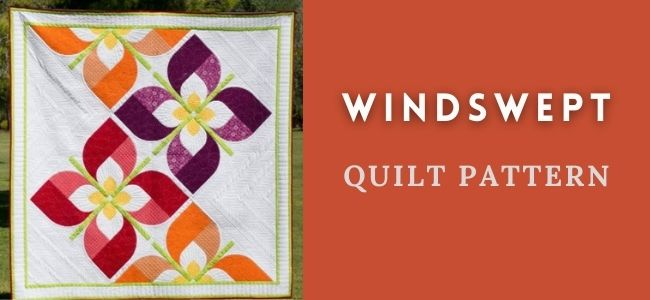 I love Quilting Forever Windswept quilt