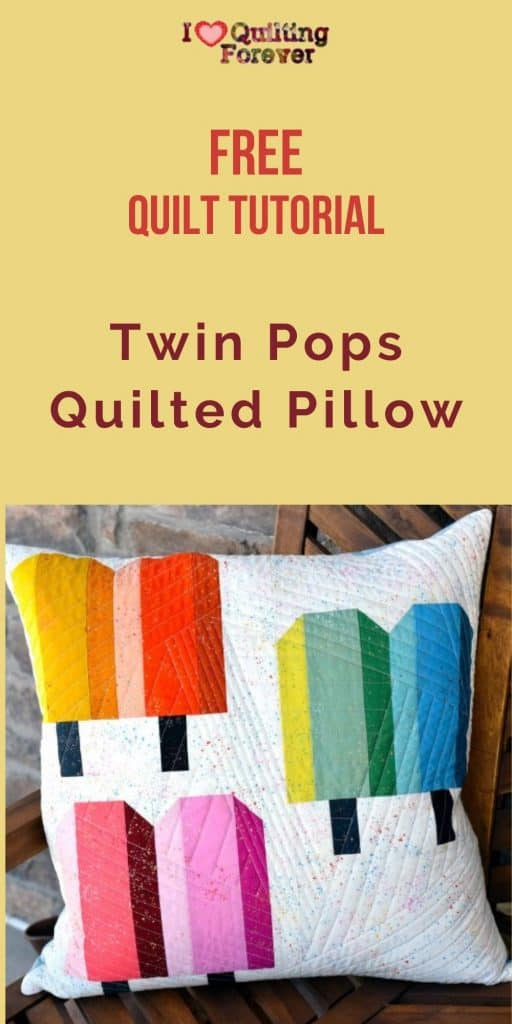 Twin Pops Quilted Pillow - pinterest