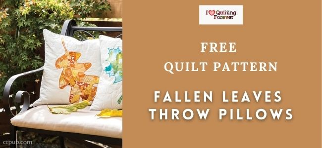 Fallen Leaves Throw Pillows Quilt Featured Cover - ILQF
