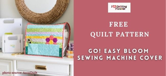 GO! Easy Bloom Sewing Machine Cover featured cover - ILQF