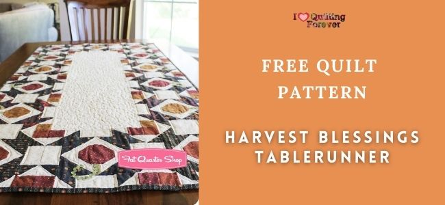 Harvest Blessings Tablerunner featured cover - ILQF