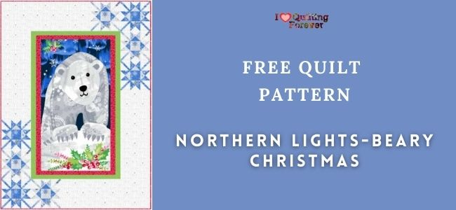 Northern Lights-Beary Christmas Quilt Featured Cover - ILQF