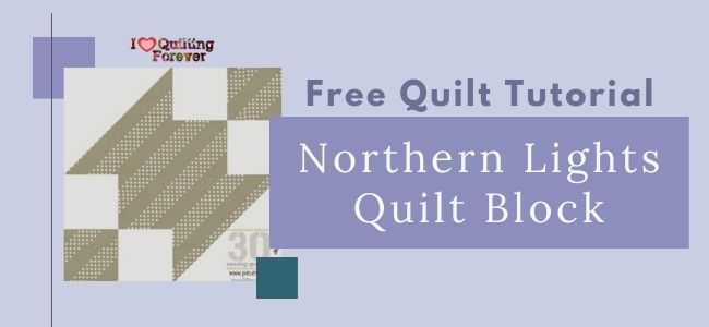Northern Lights Quilt Block Featured cover - ILQF