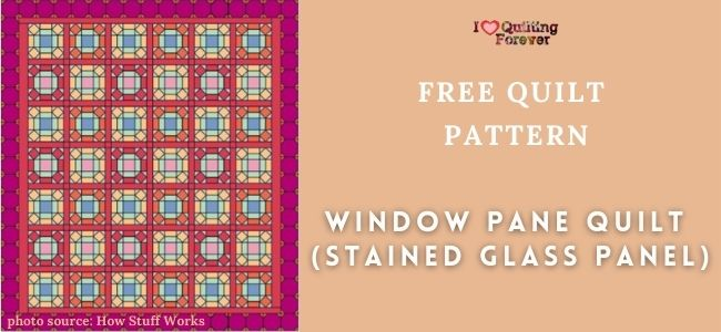 Window Pane Quilt (Stained Glass Panel) feature cover - ILQF