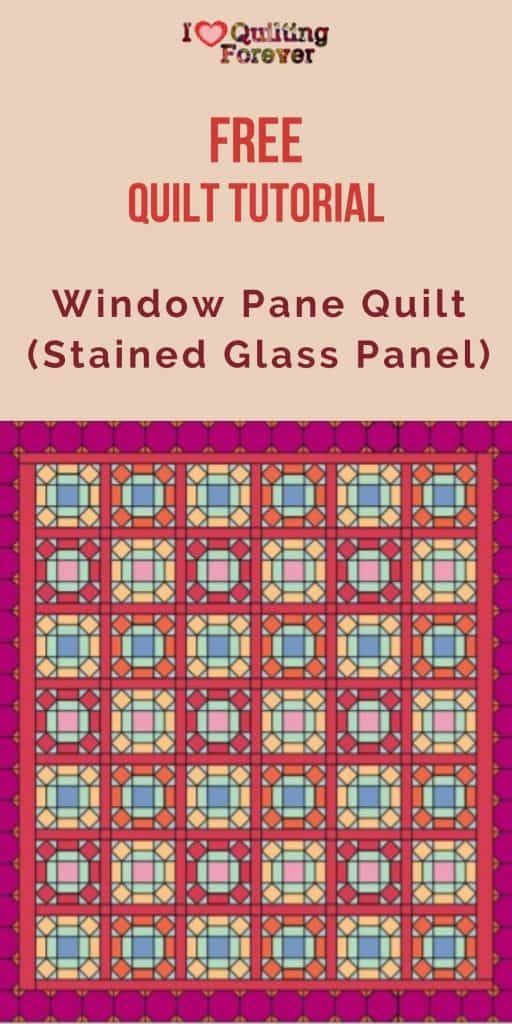 Window Pane Quilt (Stained Glass Panel) - pinterest