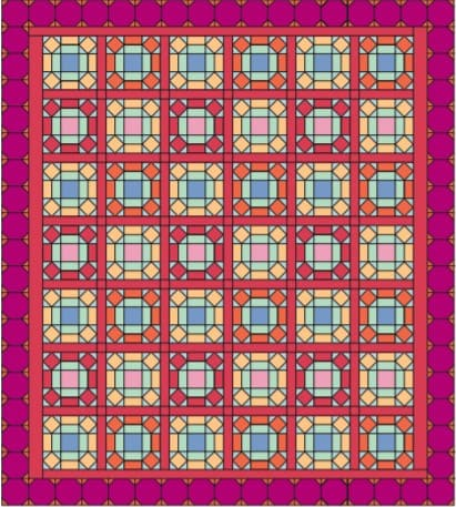 Window-Pane-Quilt-Stained-Glass-Panel