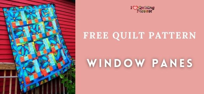 Window Panes Quilt feature cover- ILQF