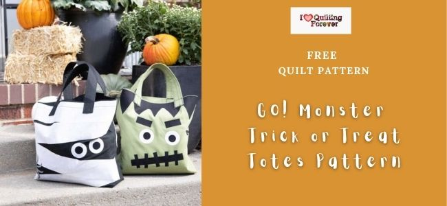 AccuQuilt GO! Monster Trick or Treat Totes Pattern Featured Cover- ILQF