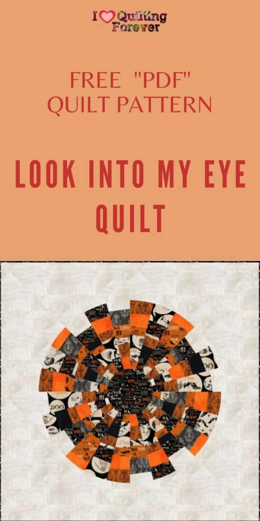 Look Into My Eye Quilt - pinterest