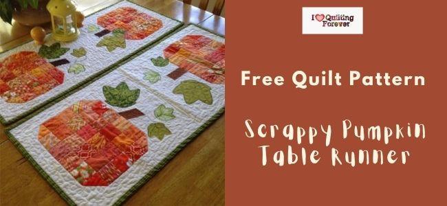 Scrappy Pumpkin Table Runner Quilt Featured Cover - ILQF